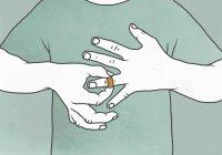 Illustration de l'homme enlevant l'alliance représentant des difficultés relationnelles — Photo de stock