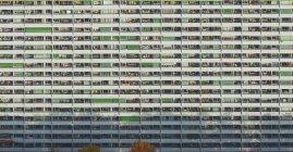 Full frame colpo di facciata dell'edificio residenziale — Foto stock