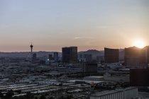 Cityscape against sky during sunset, Las Vegas, Nevada, USA — Stock Photo
