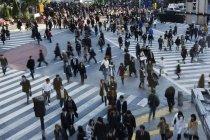 Натовп на переходах в Японії, Shibuya — стокове фото