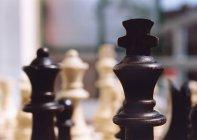 Nahaufnahme der Schachfiguren — Stockfoto