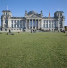 Exterior of The Reichstag with lawn, Berlin, Germany — Stock Photo
