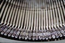 Close up view of antique typewriter keys — Stock Photo