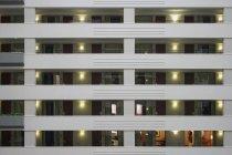 Full frame shot of apartment building facade — Stock Photo