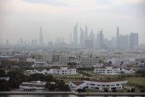 Luftbild von Dubai bei nebligem Wetter — Stockfoto