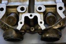 Nahaufnahme von Motorrad Ventile im Zylinderkopf — Stockfoto