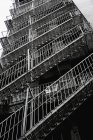 Fire escape steps on rear of building — Stock Photo