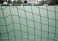 Vista da vicino della rete di calcio — Foto stock