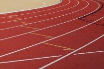 Empty running tracks at stadium — Stock Photo