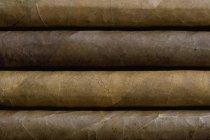 Повний кадр постріл чотири сигар поруч — стокове фото