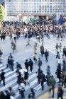 Пташиного польоту натовп на переходах в Сібуя квадратний — стокове фото