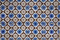 Quadro completo tiro azulejos estampados, — Fotografia de Stock