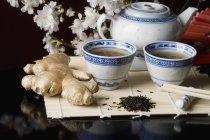 Bodegón de ingredientes japoneses estereotípicos - foto de stock