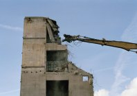 Building in process of being demolished — Stock Photo