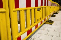Close up view of street bollards in row — Stock Photo