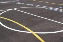 Crop empty outdoor basketball court — Stock Photo