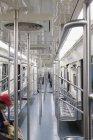 Внутренний вид метро — стоковое фото