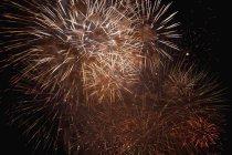 Full frame of fireworks in night sky — Stock Photo