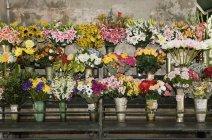 Fleurs en dehors de la boutique Fleuristes — Photo de stock