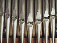 Full-Frame-Schuss der Pfeifenorgel details — Stockfoto