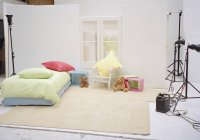 Conjunto de estúdio do interior do quarto da criança — Fotografia de Stock