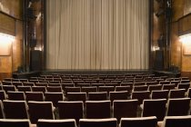 View to empty seats and theatre dais — Stock Photo