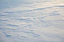 Vista de ângulo baixo de textura de neve iluminado pelo sol — Fotografia de Stock