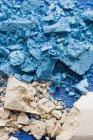 Schiacciato ombretto blu e beige — Foto stock