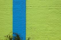 Екстер'єр яскравих кольорових синьо-зелені стіни — стокове фото