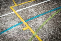 Full frame shot of road with painted lines — Stock Photo
