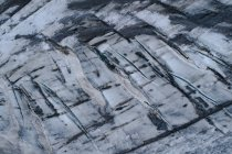 Captura de fotograma completo de textura de formación de la roca congelada - foto de stock