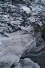 Аэрофотоснимок замороженных рок формирования шаблона — стоковое фото