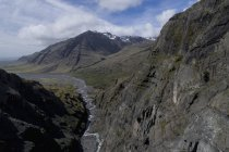 Идиллический выстрел против skyscape Скалистых гор — стоковое фото