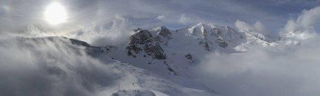 Panoramic view Bermina mountain range, Diavolezza, Switzerland — Stock Photo