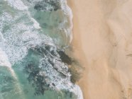 Aerial view from above ocean beach, West Coast, Lisbon, Portugal — Stock Photo