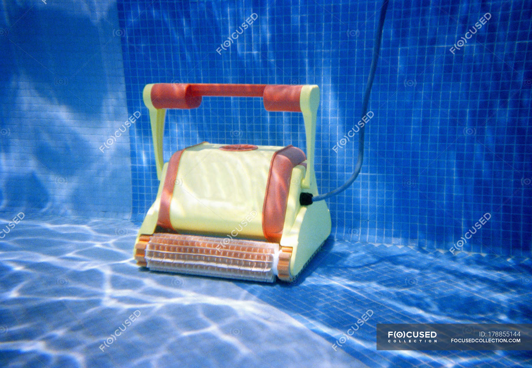 Pool Cleaner Underwater In Swimming