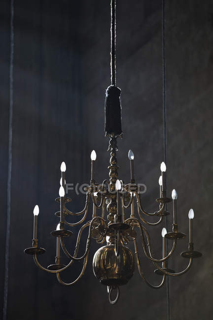 Low angle view of vintage hanging chandelier — Stock Photo