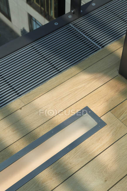 High angle view floor lighting and ventilation — Stock Photo
