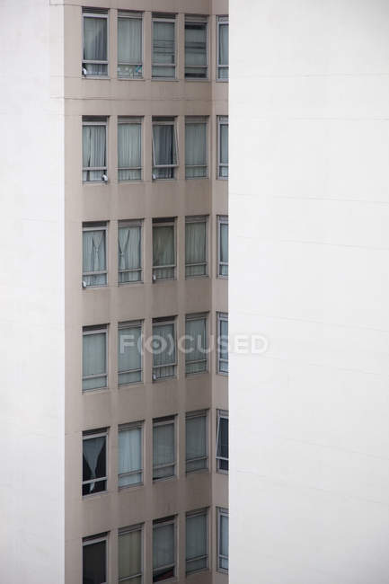 Distant view of apartment building facade — Stock Photo
