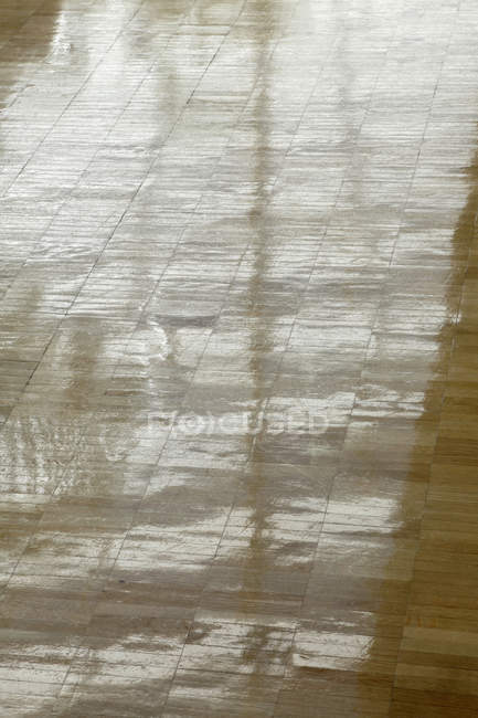High angle view of hardwood floor — Stock Photo