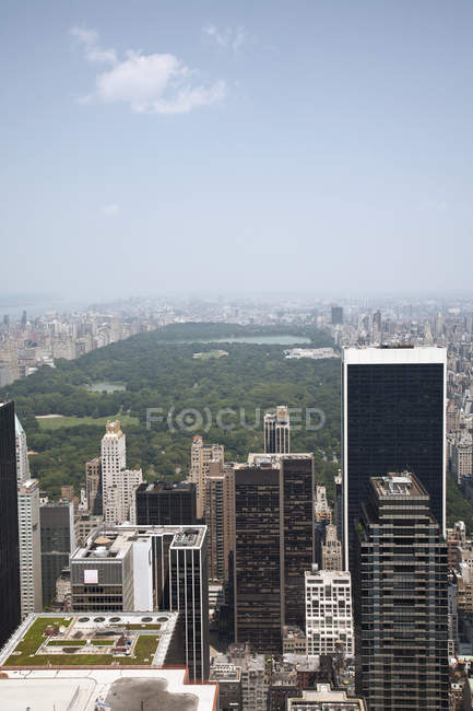 Manhattan skyline y Central Park, Nueva York, EE.UU. - foto de stock