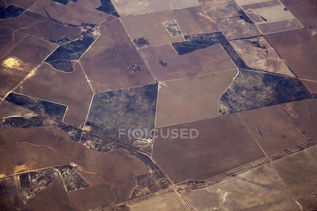 Пташиного польоту культивованих сільськогосподарських земель — стокове фото