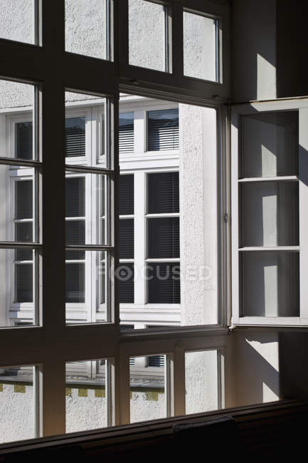 Array of square windows on sunny day — Stock Photo