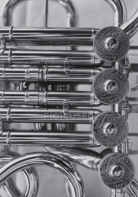 Close up view of French horn — Stock Photo
