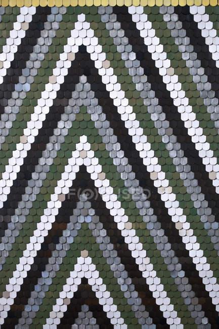 Padrão intricado de telhas — Fotografia de Stock