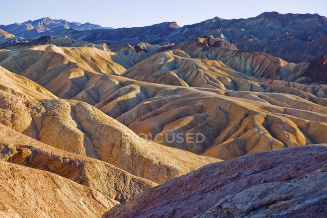 Die erodierte Landschaft von Zabriskie Point im Death Valley — Stockfoto