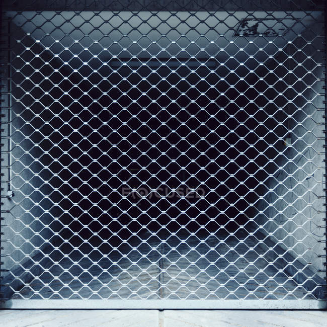 Close up view of metallic shutter on vent tube — Stock Photo