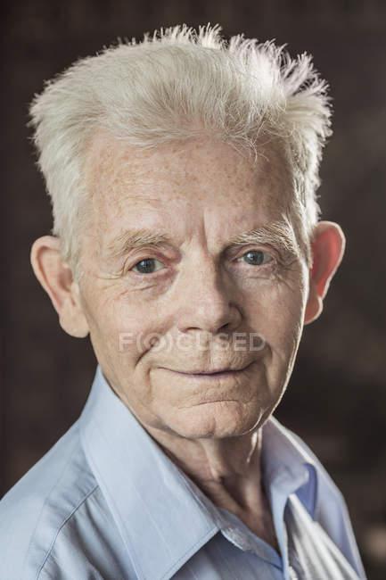 Close-up portrait of happy senior man — Stock Photo