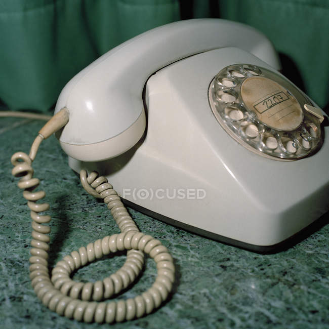 Close up view of old fashioned telephone — Stock Photo