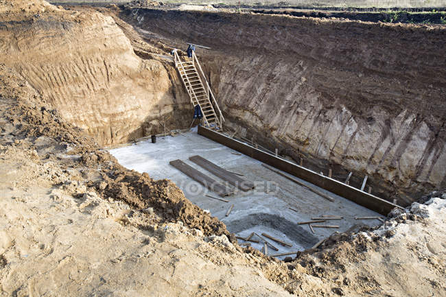 Construction pit in Voronezh, Russia — Stock Photo